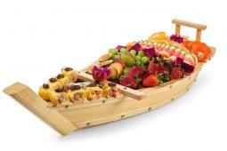 סירת פירות בשילוב סושי